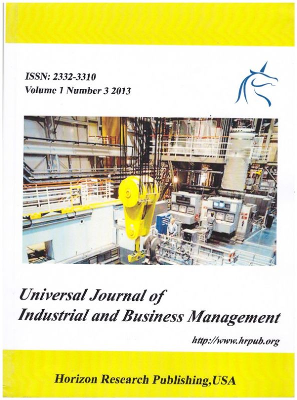 Статья в журнале Universal Journal of Industrial and Business Management